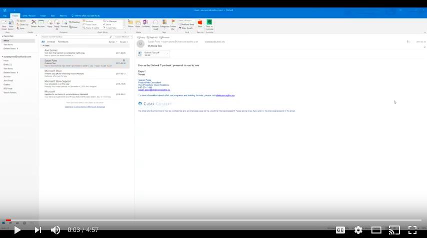 Outlook Tasks Video Demo