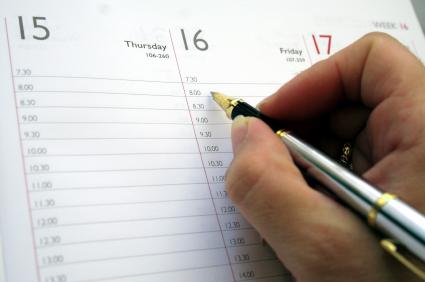 routine; time; priorities; calendar