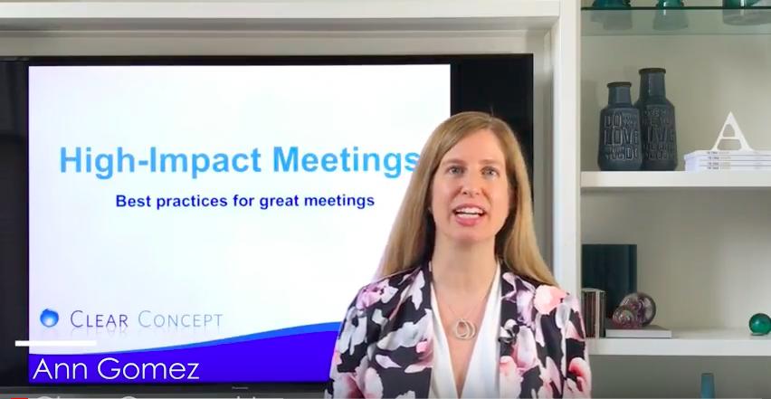2 key tips for High Impact Meetings